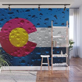 Flag of Colorado - Raindrops Wall Mural