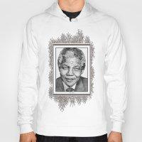 mandela Hoodies featuring Nelson Mandela by JMcCombie