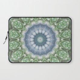 Slate Blue and Green Mandala Laptop Sleeve
