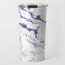 Modern trendy white marble purple ultra violet pattern Travel Mug