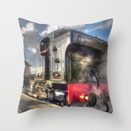 Steam Locomotive 1501 at Bewdley Throw Pillow