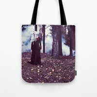 iron maiden Tote Bags featuring Maiden by Gypsy Moth Sol