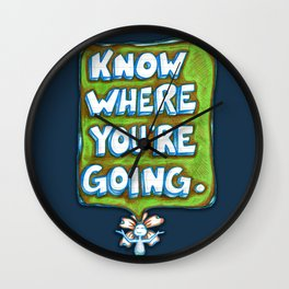 """Know Where You're Going"" Flowerkid Wall Clock"