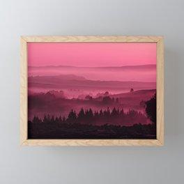 My road, my way. Pink. Framed Mini Art Print