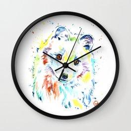Arctic Fox Wall Clock