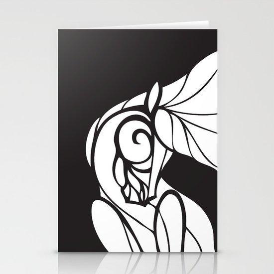 Horse Swirls 2 Stationery Cards