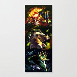 Gen 4 Final Evolution Starters Canvas Print
