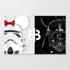 Mini Trooper vs. Vader Mouse Canvas Print