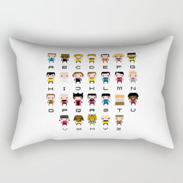 Pixel Star Trek Alphabet Rectangular Pillow