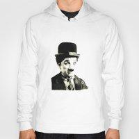 charlie chaplin Hoodies featuring Charlie Chaplin by Lauren Randalls ART