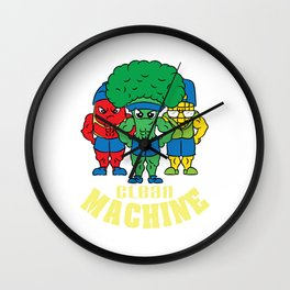"""Great and nice gift for everybody. Grab this """"Clean Machine"""" tee design. Unique and awesome gift Wall Clock"""