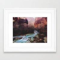 desert Framed Art Prints featuring Havasu Canyon Creek by Kevin Russ