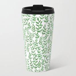Garden Watercolor Leaves Travel Mug