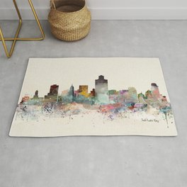 salt lake city skyline Rug