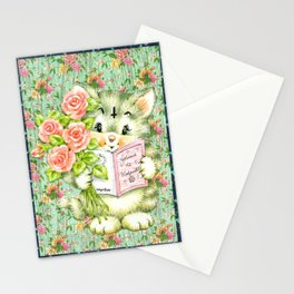 Hedgewitch cat handuct collage Stationery Cards