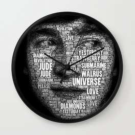The Fab Four Songs - John Wall Clock
