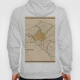 Map Of Athens 1898 Hoody
