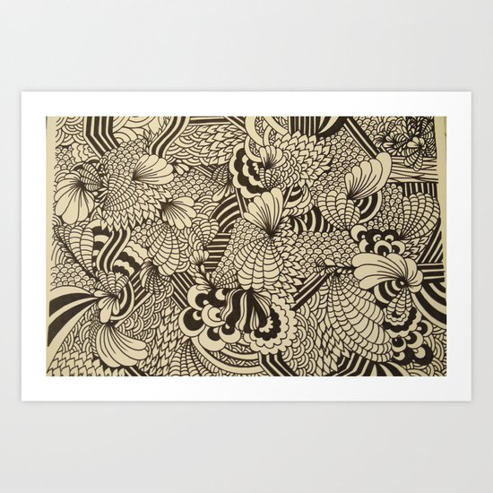 Doodles and Swirls II Art Print