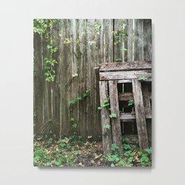 Rustic Fence Metal Print