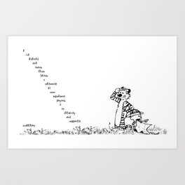 Calin and Hobbes Art Print