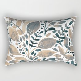Watercolor branches and leaves - neutral Rectangular Pillow