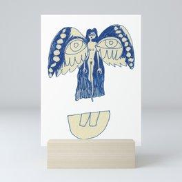 unusual angel Mini Art Print