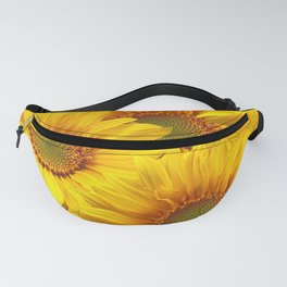 Yellow Mellow Sunflower Bouquet #decor #society6 #buyart Fanny Pack