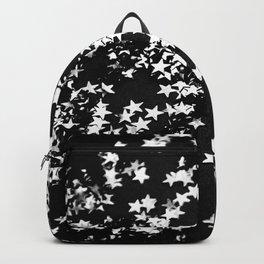 Black Night Glitter Stars #1 #shiny #decor #art #society6 Backpack