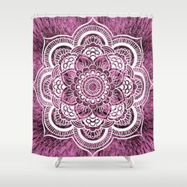 Mandala Mauve Colorburst Shower Curtain
