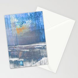 Blue Color Patches Stationery Cards