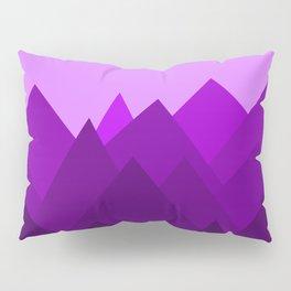 Abstract Purple Alien Landscape Pillow Sham