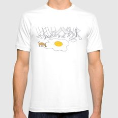 sunny side up MEDIUM White Mens Fitted Tee