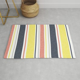 Circles and stripes pattern Rug