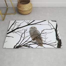 Snowy Owl in the Treetop Rug