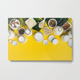dairy free milk substitute drinks and ingredients Metal Print