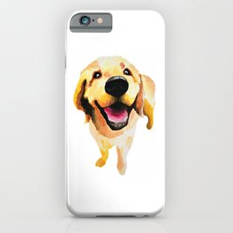 Good Boy / Yellow Labrador Retriever dog art iPhone Case
