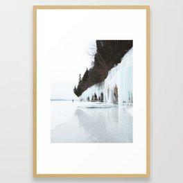 Grand Island Ice Curtains | Munising, Michigan | Upper Peninsula | John Hill Photography Framed Art Print
