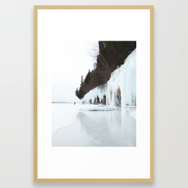 Grand Island Ice Curtains | Munising, Michigan | Upper Peninsula | John Hill Photography Framed Art Print