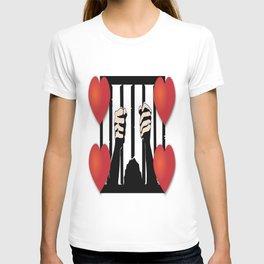 Prisoner of Love Hearts T-shirt