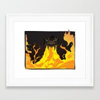 dungeons and dragons Framed Art Prints featuring DUNGEONS & DRAGONS - INTRO by Zorio