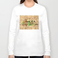 pittsburgh Long Sleeve T-shirts featuring pittsburgh city skyline by Bekim ART