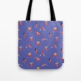 Yoga Girls blue lines Tote Bag