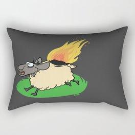 Flaming Sheep (White) Rectangular Pillow