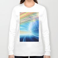 halo Long Sleeve T-shirts featuring Colorful Halo by Tom Lee