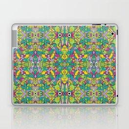 Odd creatures having fun by multiplying in a seamless pattern design Laptop & iPad Skin