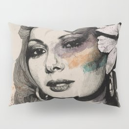 Edwige (street art sexy portrait of Edwige Fenech) Pillow Sham