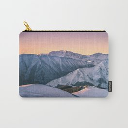 Winter Mountain View Carry-All Pouch