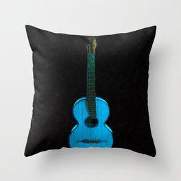 Blue Guitar Music Music Lover Instrument Throw Pillow