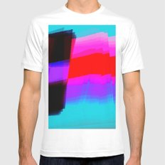 Flagging White Mens Fitted Tee MEDIUM