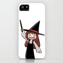 Cute witch girl iPhone Case